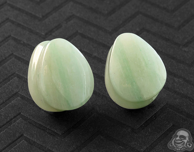 Aventurine Teardrop Plugs