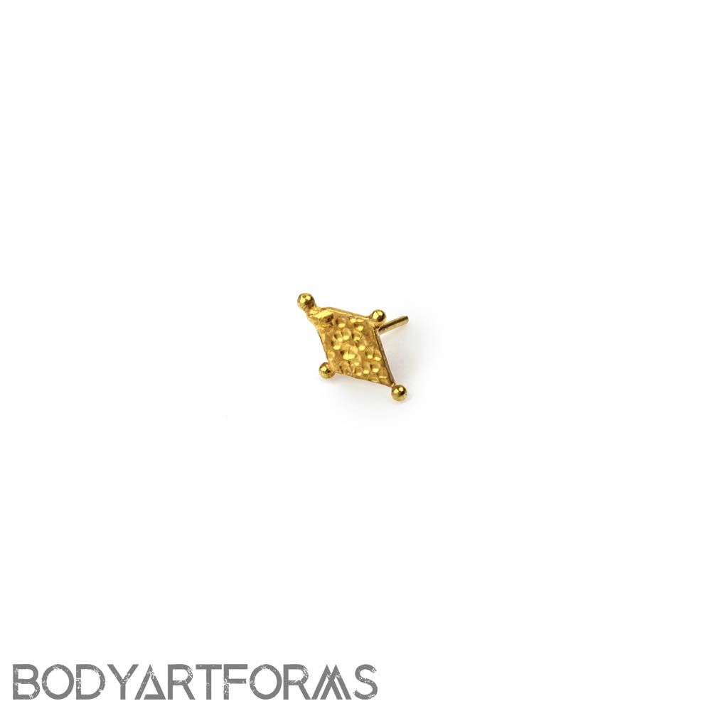 14k Gold Harlequin Threadless End