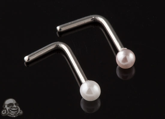 Faux Pearl Nosescrew