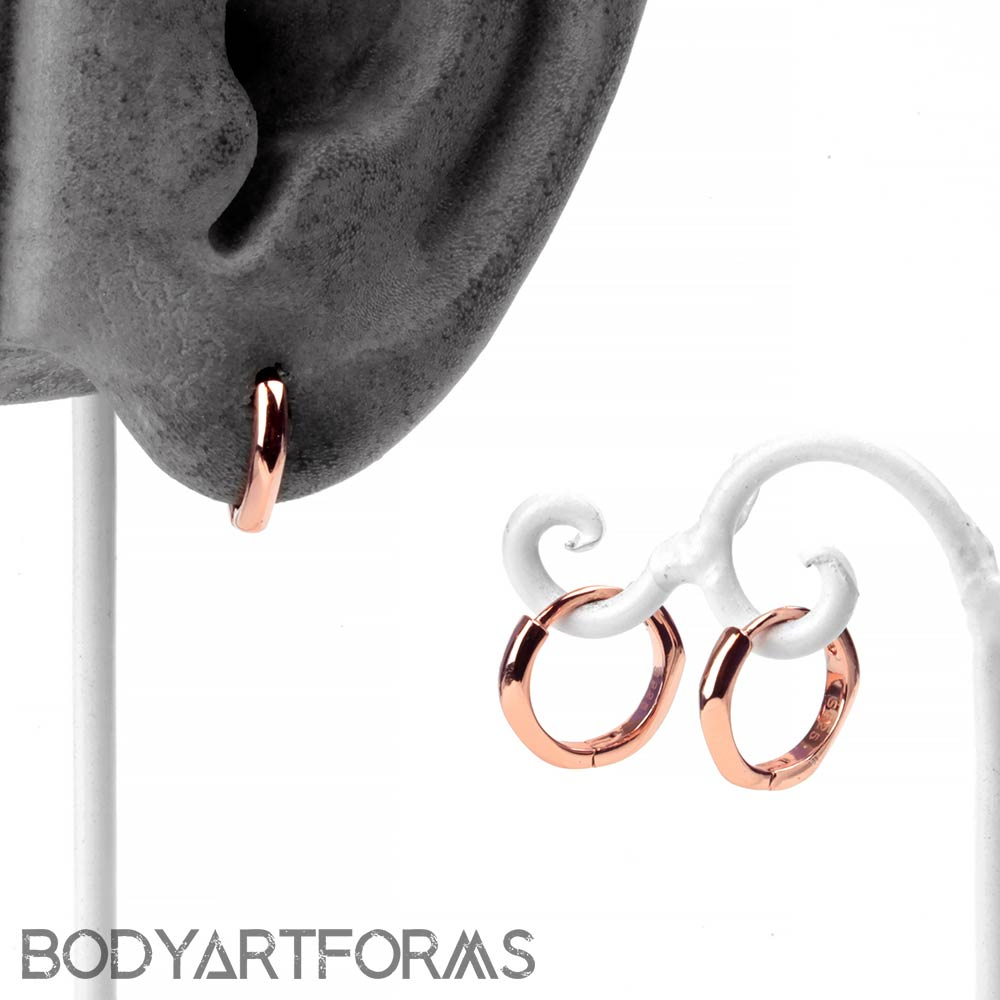 Rose Gold Huggie Earring