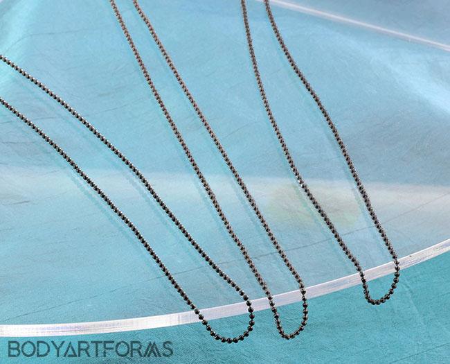 Gunmetal DC Ball Necklace Chain