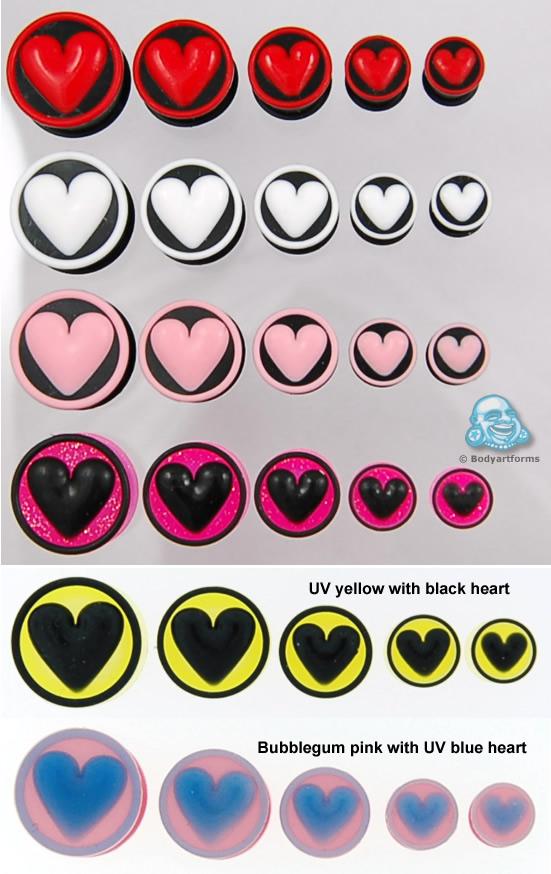 Silicone Heart Plug