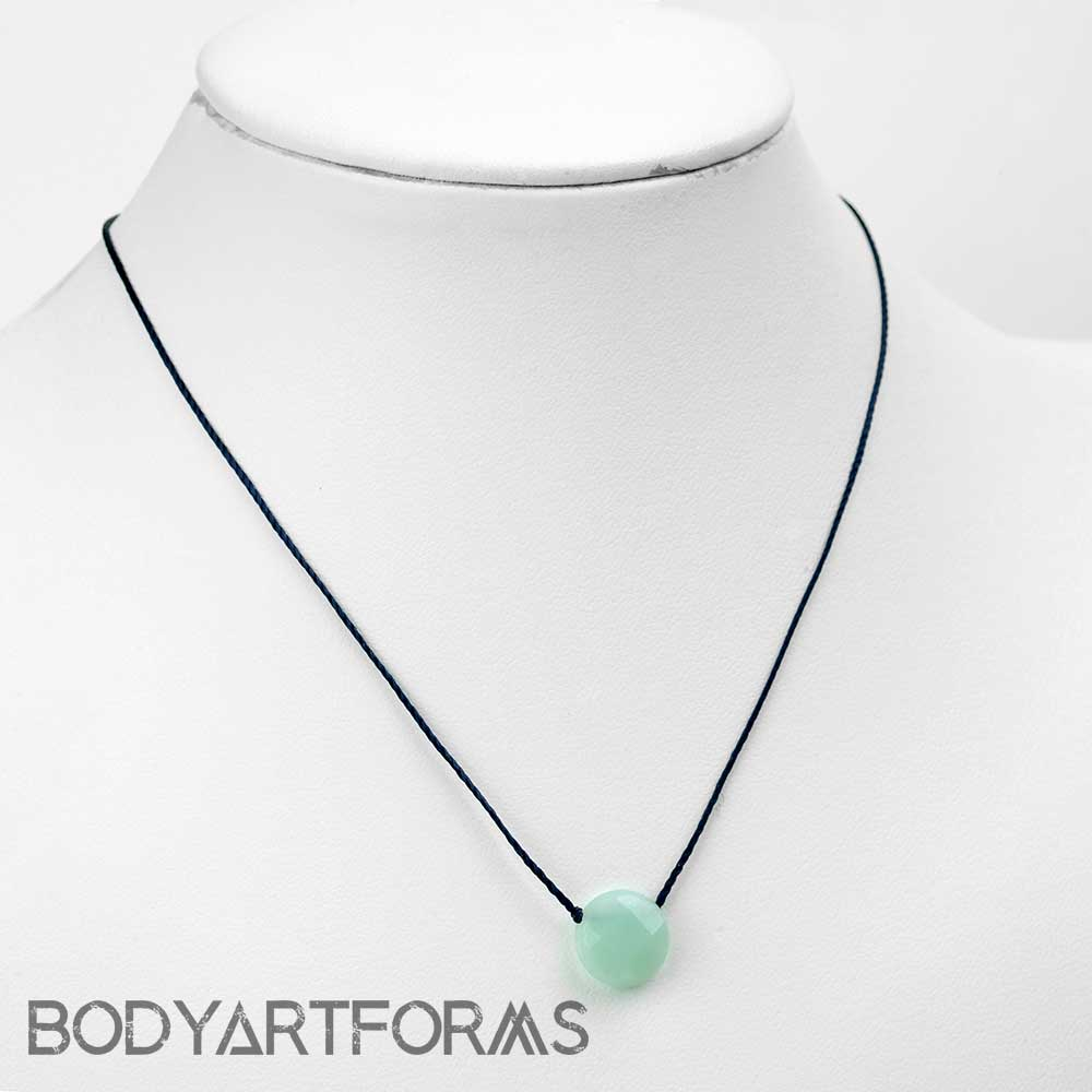 Silk and Amazonite Necklace