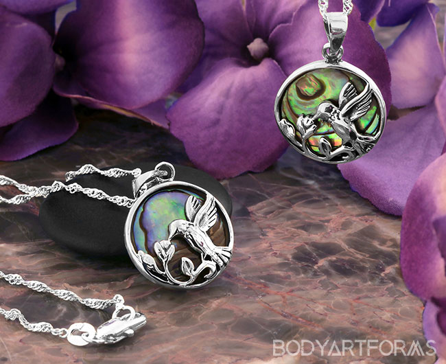 Abalone Hummingbird Necklace