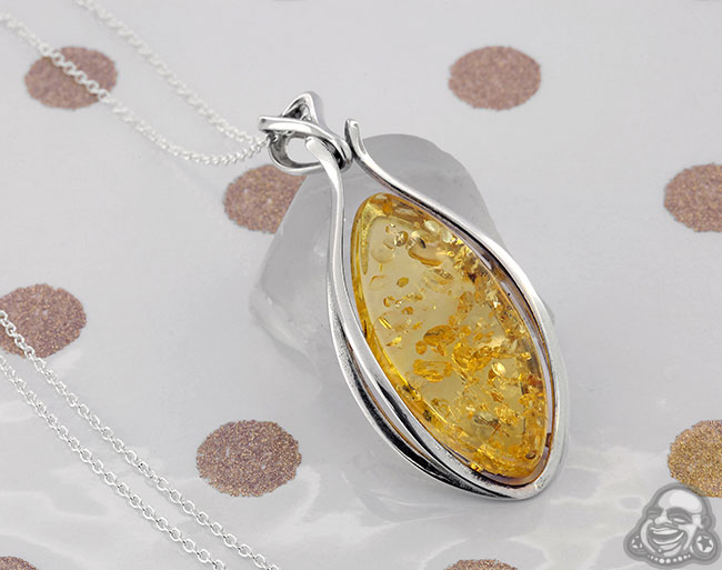 Silver and baltic amber pendant necklace aloadofball Images
