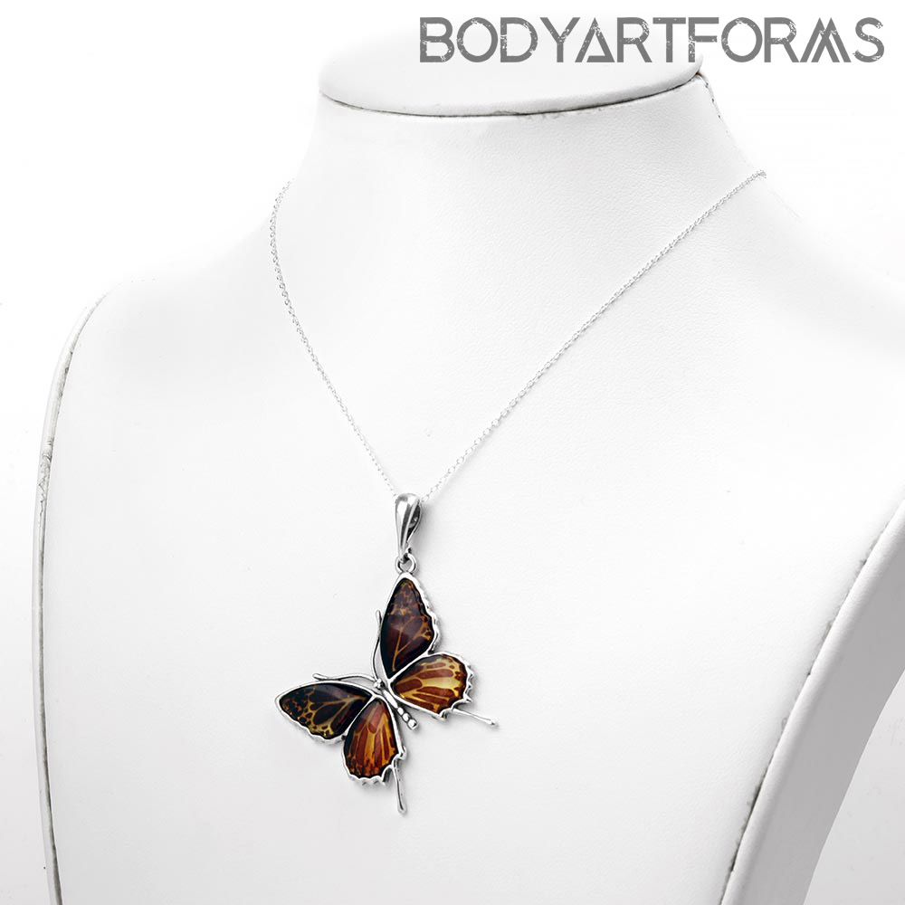 Butterfly Amber Necklace