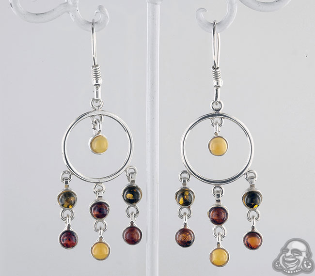 Silver and amber chandelier earrings aloadofball Image collections