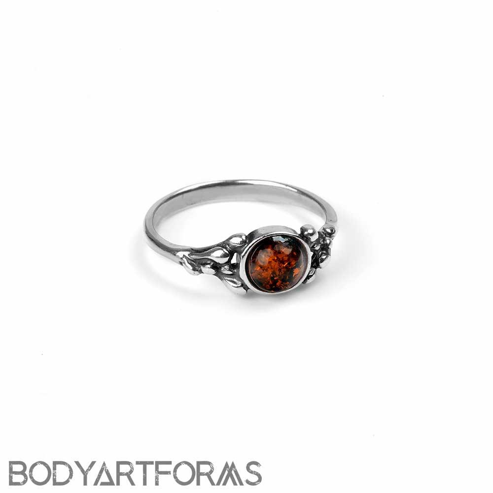 Amber Fern Ring
