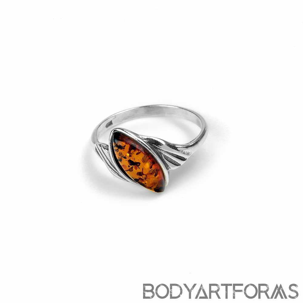 Windswept Amber Ring