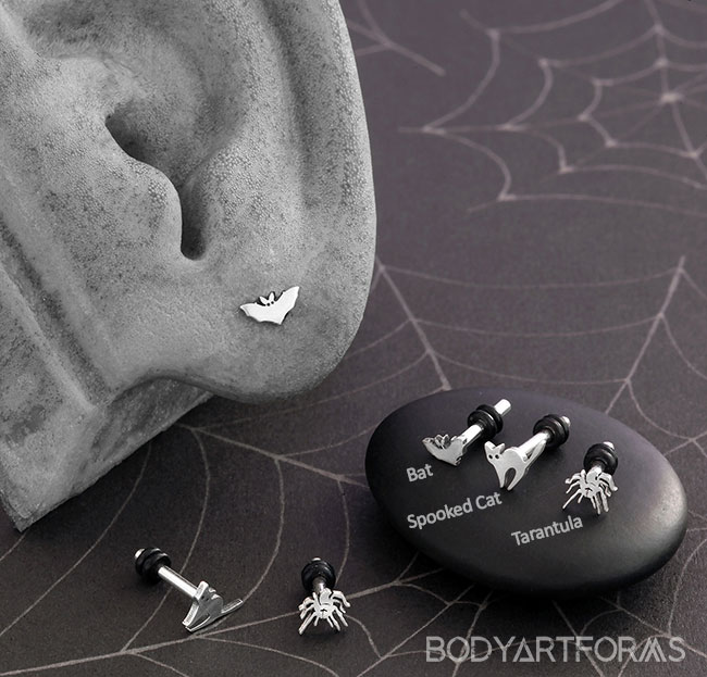 Silver Assorted Single Flare Plugs