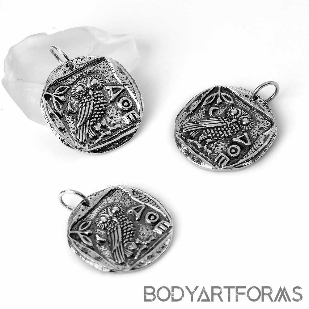 Athena's Owl Pendant