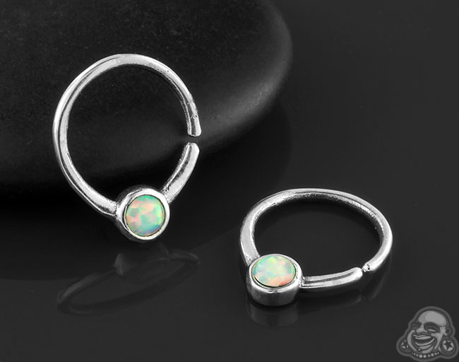 Silver Cabochon Seamless Ring