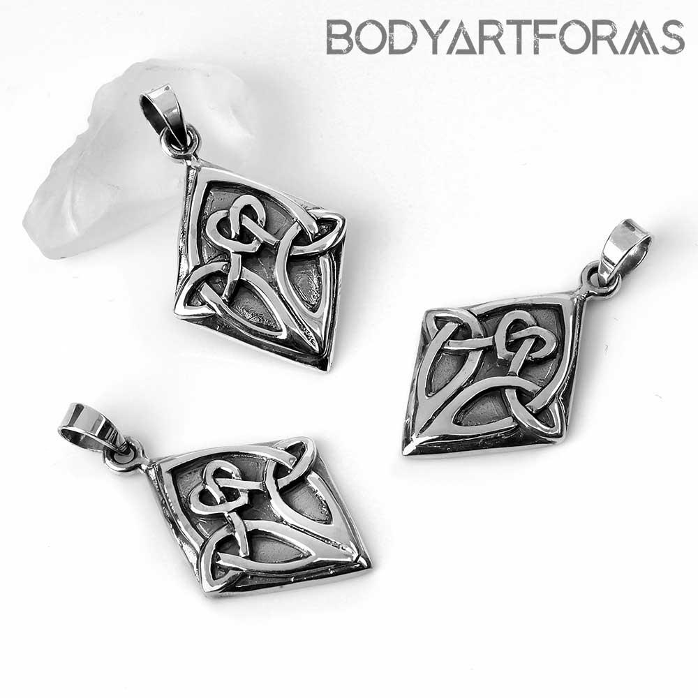 Silver Celtic Knot Diamond Pendant