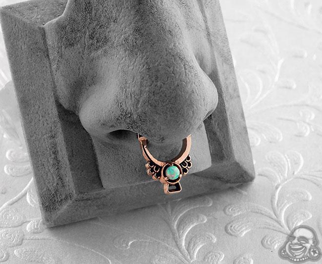 Copper Muyal Septum Clicker Ring