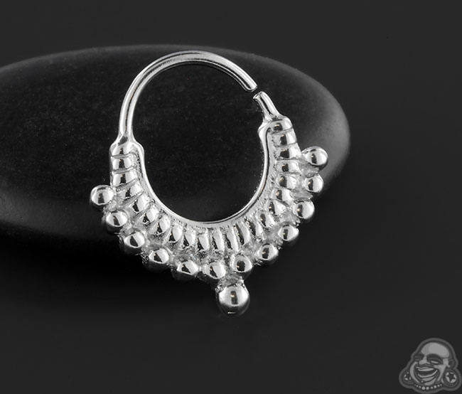 Double Beaded Seamless Septum Ring