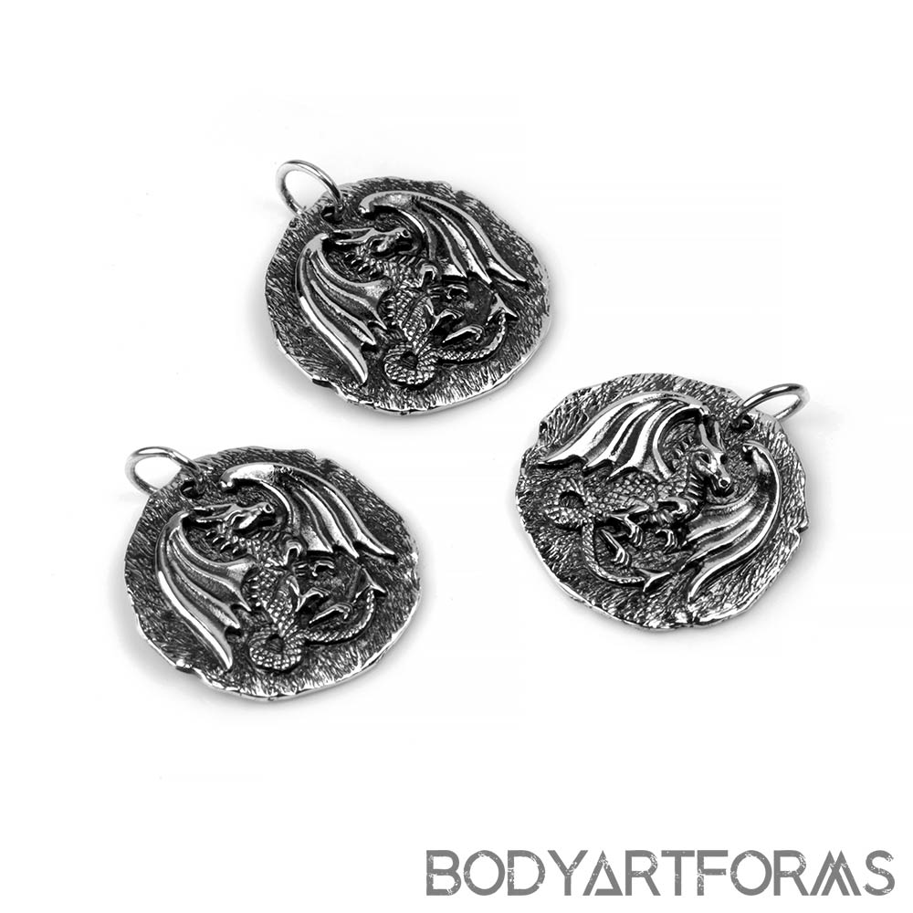 Silver Dragon Medallion