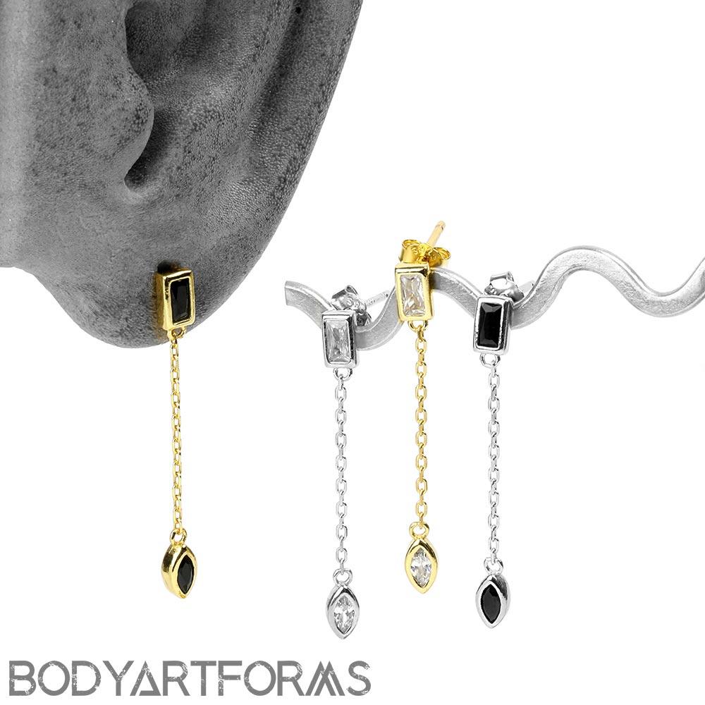 Gem Drop Dangle Earrings
