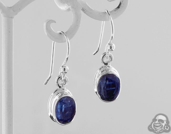 Silver and Faceted Kyanite Earrings
