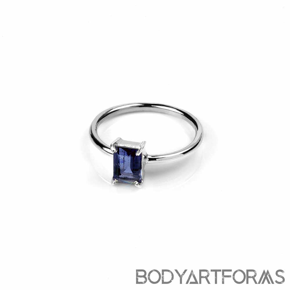 Silver and Iolite Ring