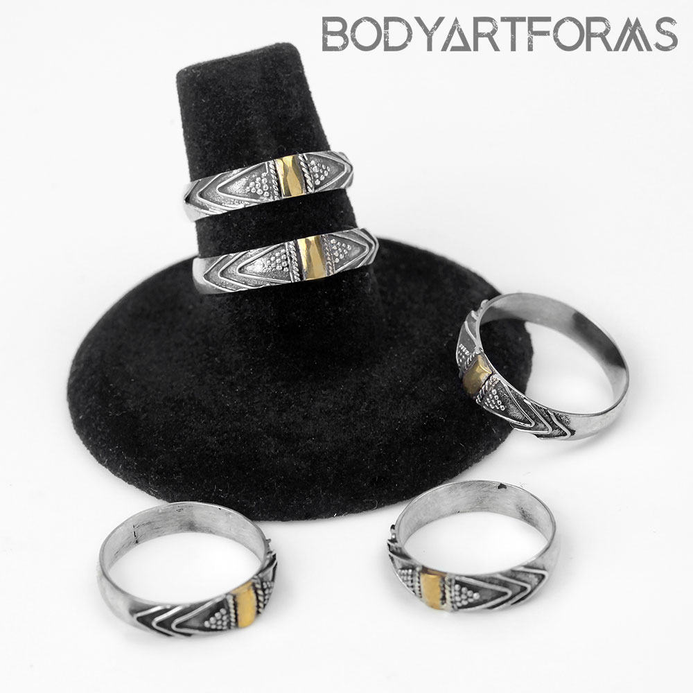 Silver and Gold Vibe Ring