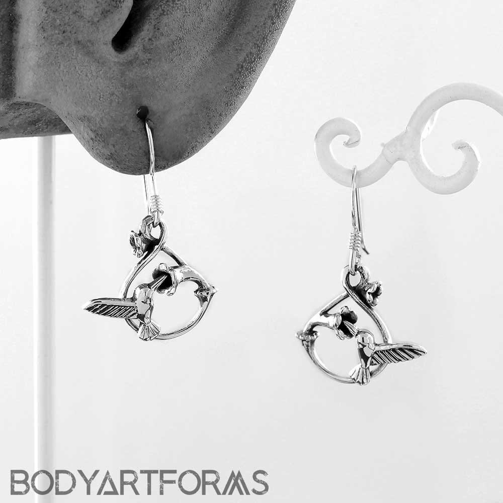 b318a820d Sterling Silver Hummingbird Dangle Earrings | Jewelry