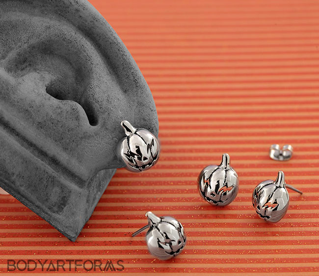 Jack-O-Lantern Stud Earrings
