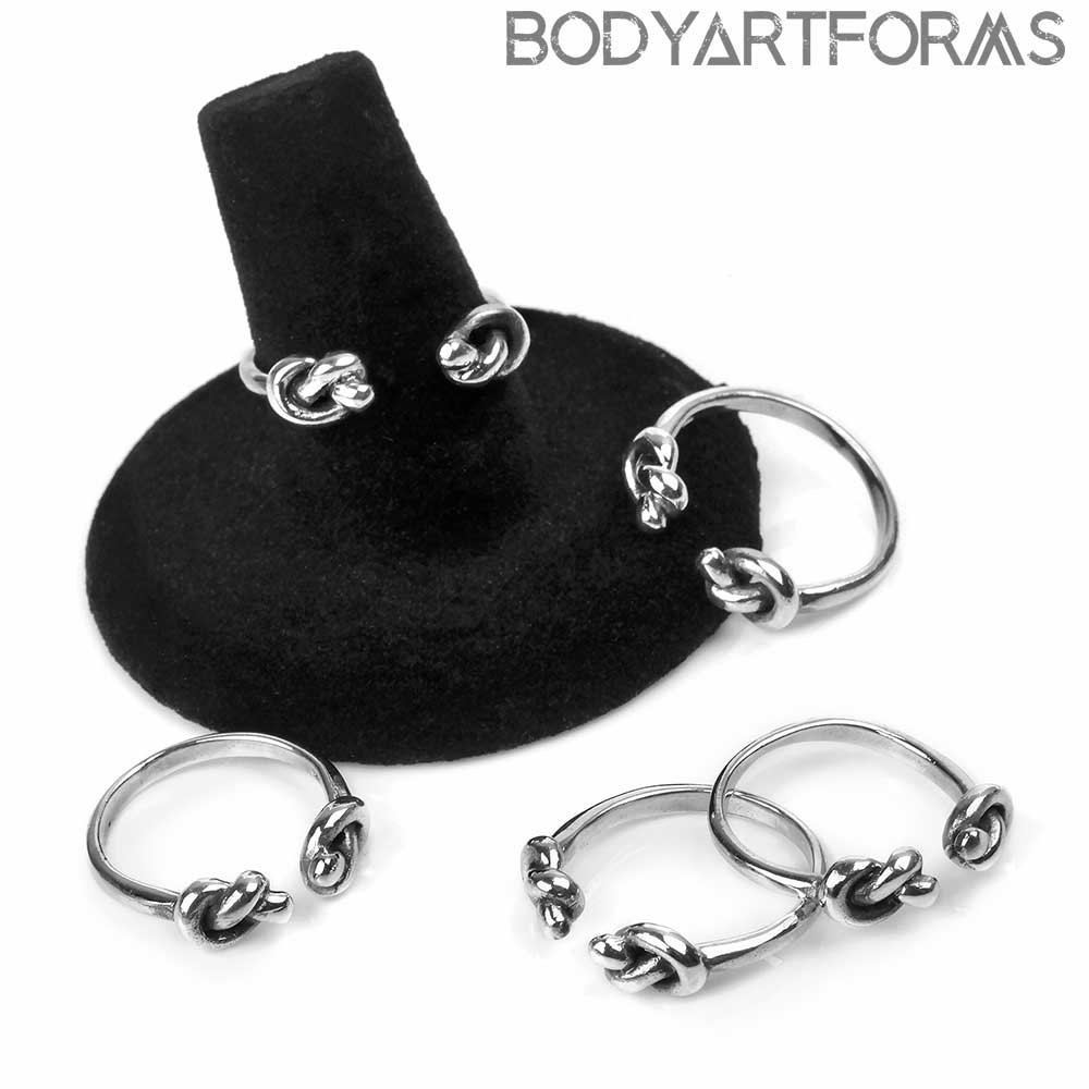 Silver Adjustable Knot Ring