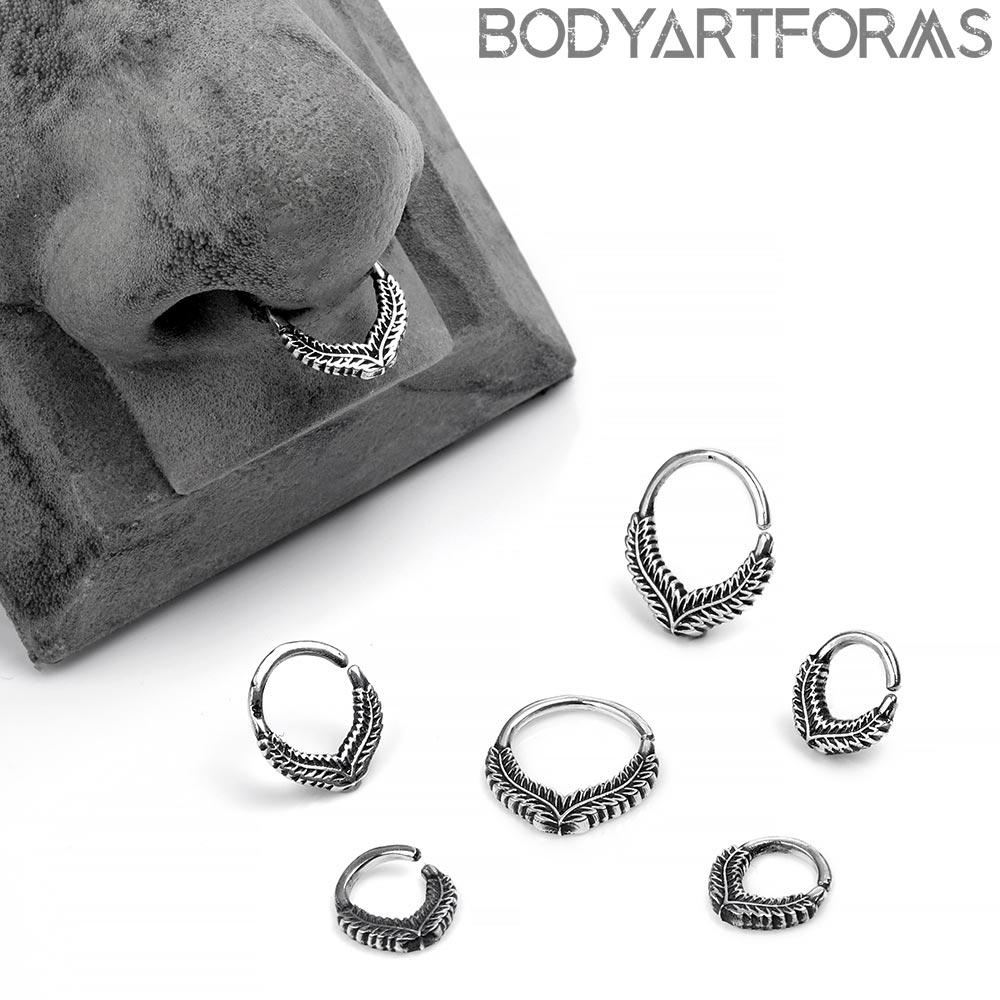 Silver Laurel Seamless Ring