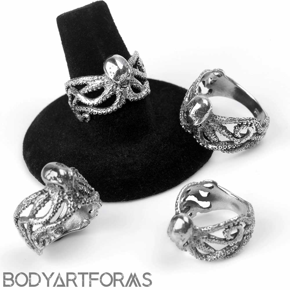 Silver Octopus Ring