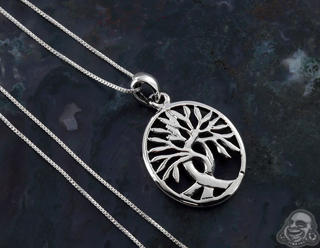 Oval celtic tree of life necklace limited silver oval celtic tree of life necklace aloadofball Images