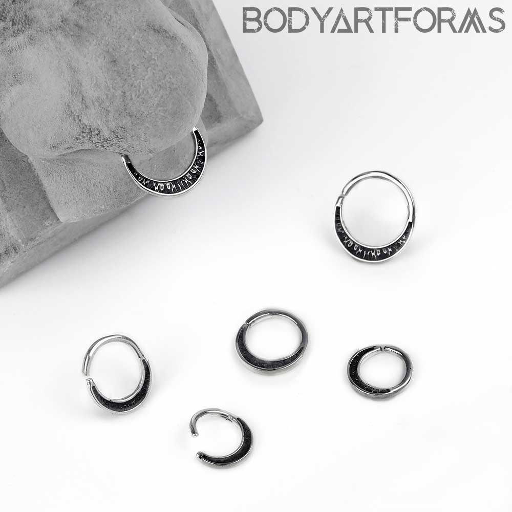Silver Oxidized Texture Seamless Ring