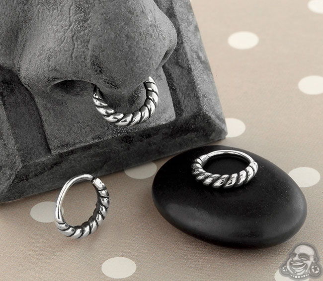 Silver Rope Seamless Ring