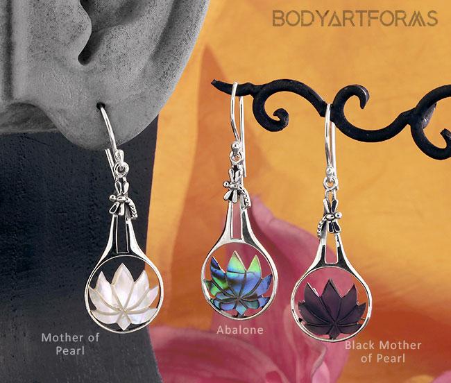 Lotus Shell Earrings