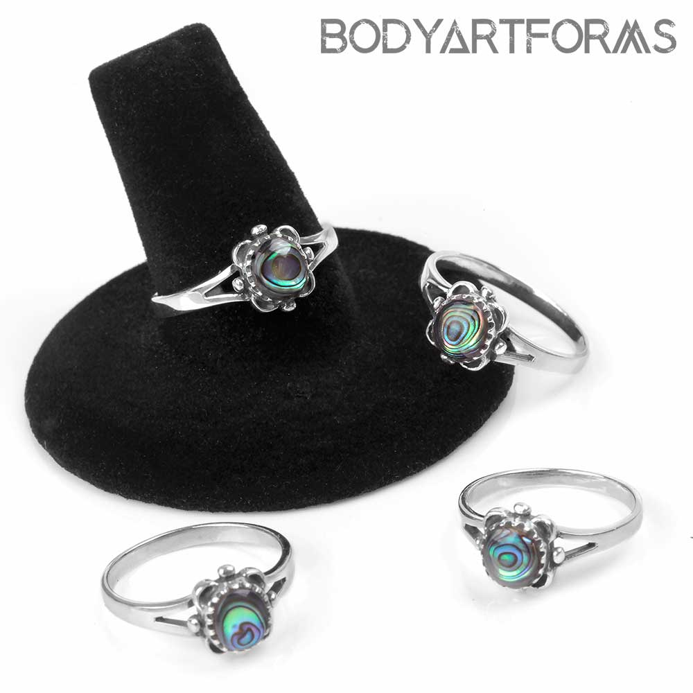 Opulent Silver and Abalone Ring