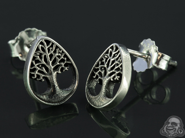 Sterling Silver Tree Of Life Earrings Main Photo