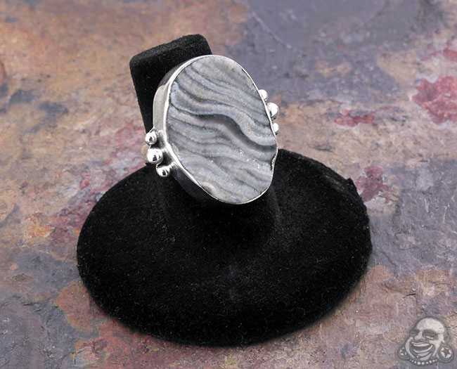 Silver and Desert Druzy Ring