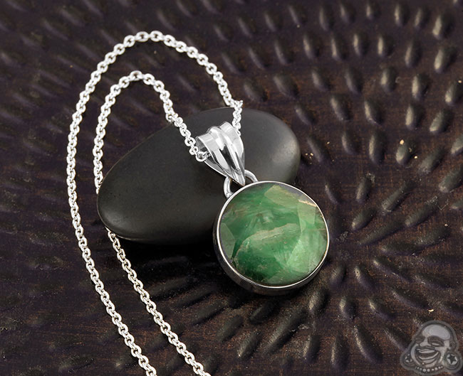 Emerald and Silver Necklace