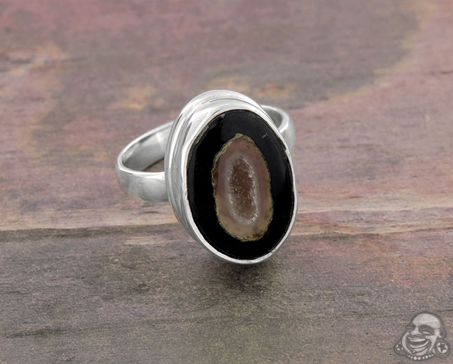 Silver and Geode Ring