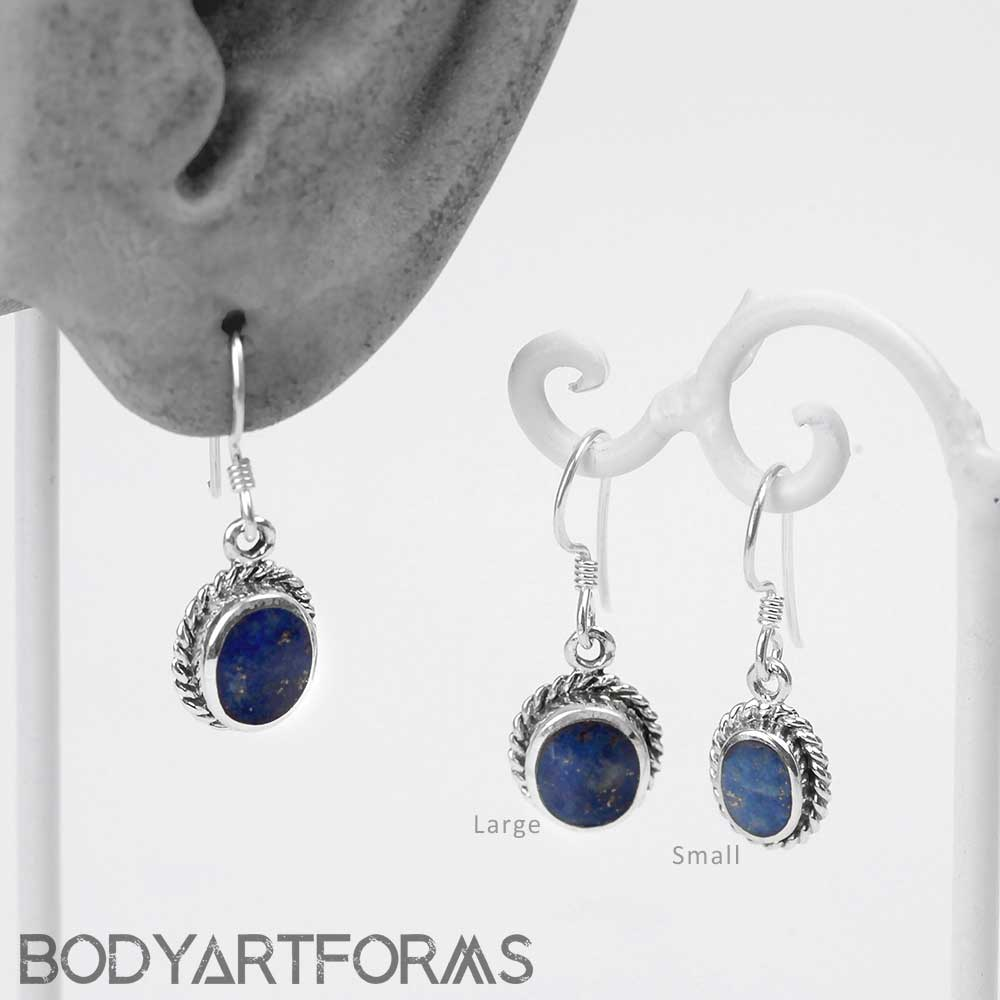 Silver and Lapis Lazuli Earrings