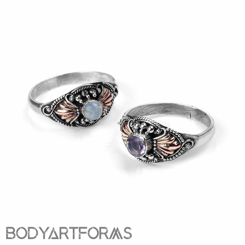 Silver Rococo Ring