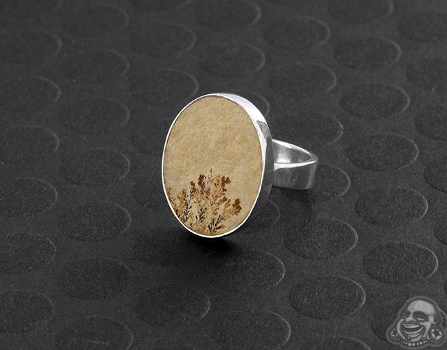 Silver and Sediment Jasper Ring