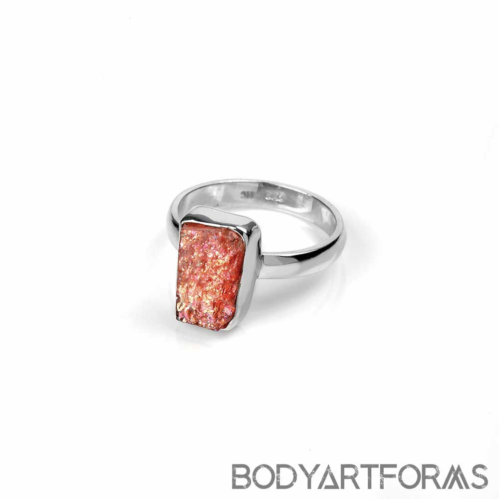 Silver and Sunstone Ring