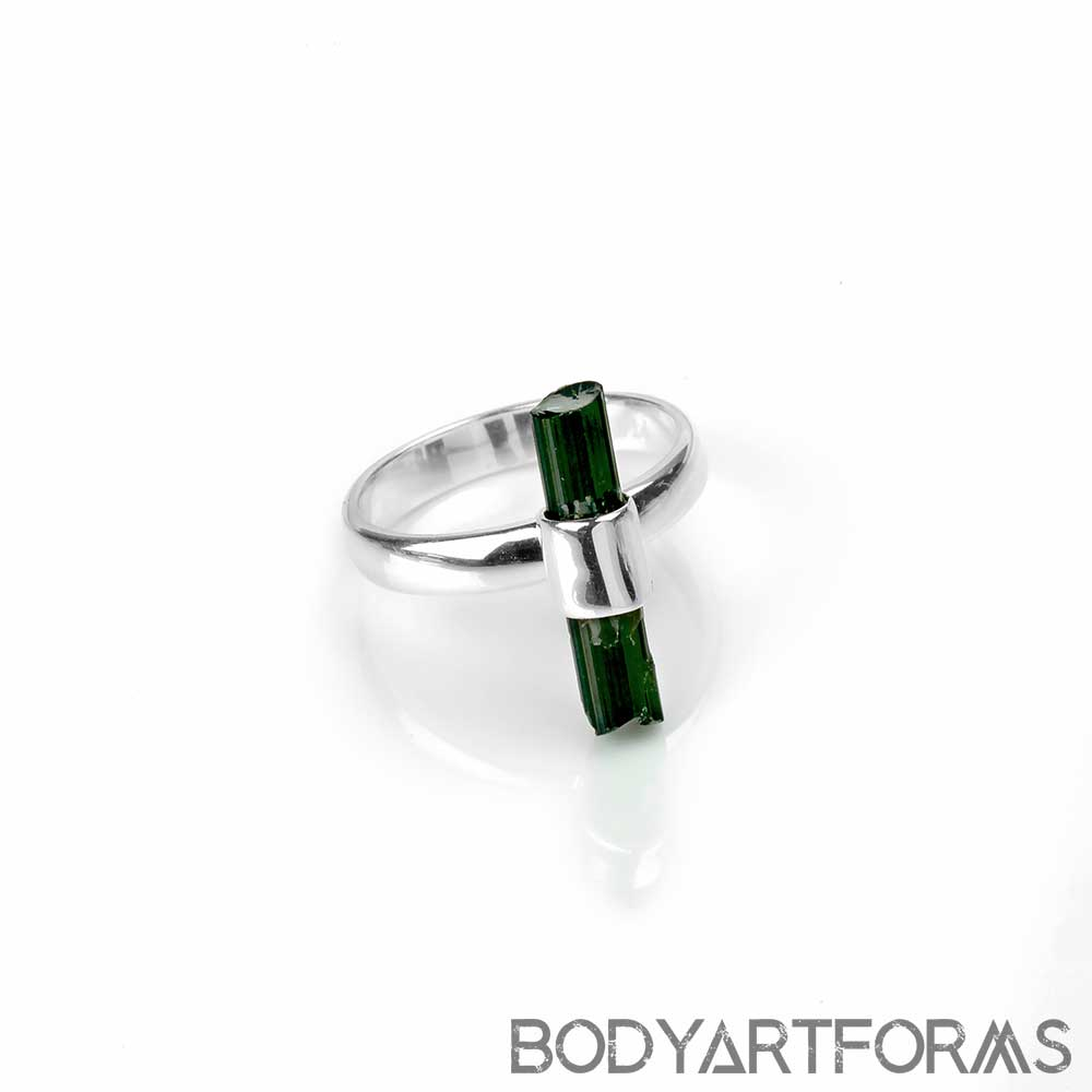 Silver and Tourmaline Ring