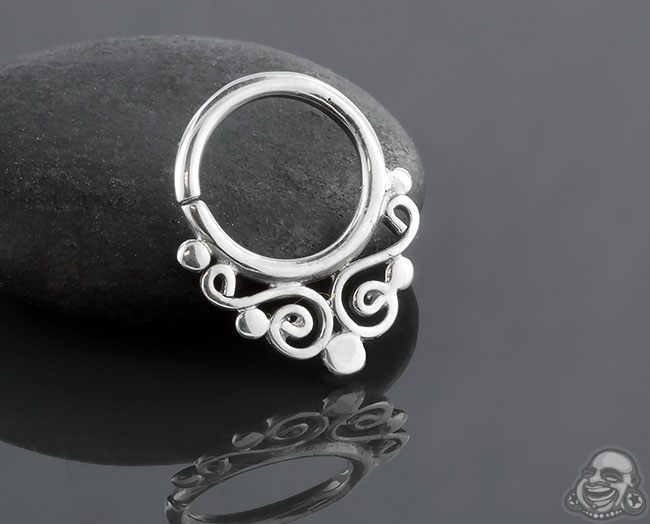 Swirl Seamless Septum Ring