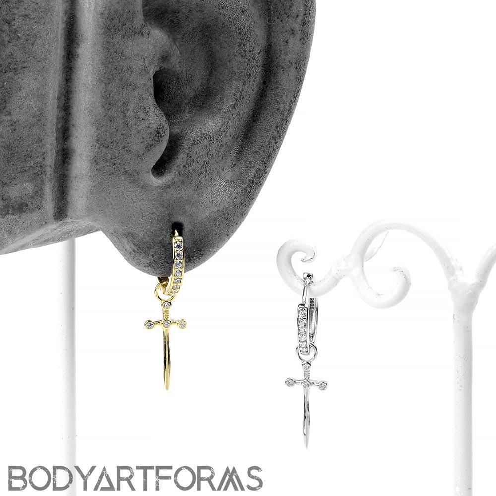 Sword Huggie Earring
