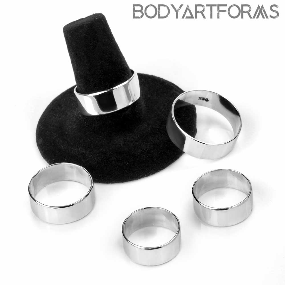 Silver Thick Band Ring