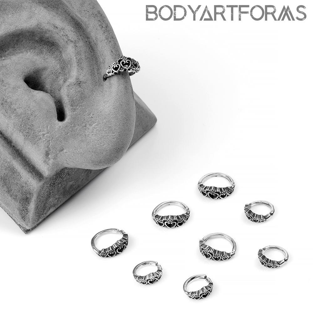 Silver Tiara Side-Set Seamless Ring