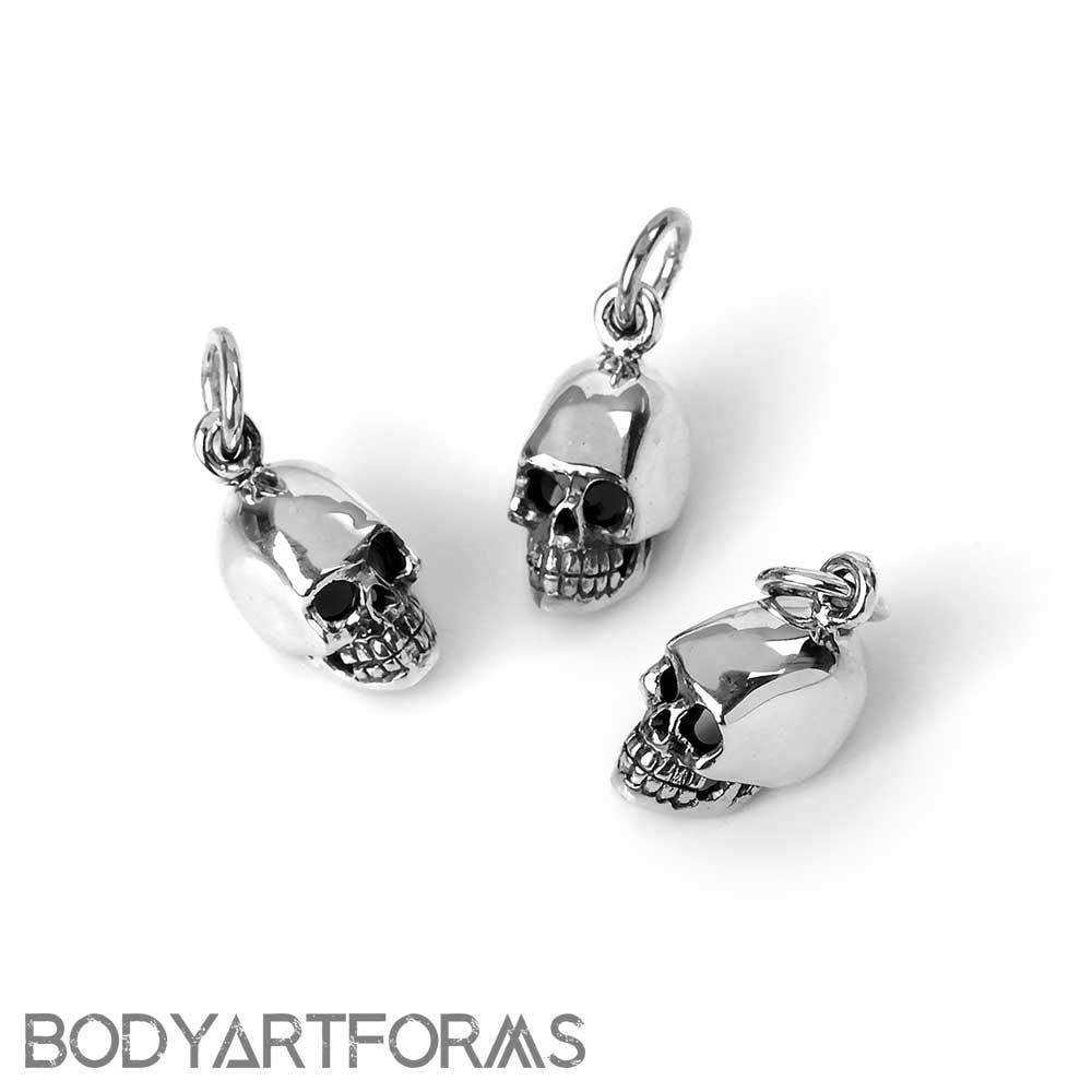Tiny Silver Skull Pendant