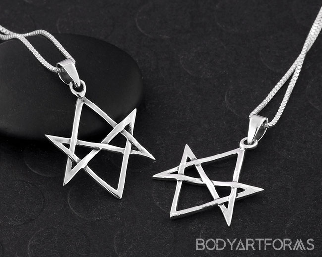 Silver unicursal hexagram necklace mozeypictures Images
