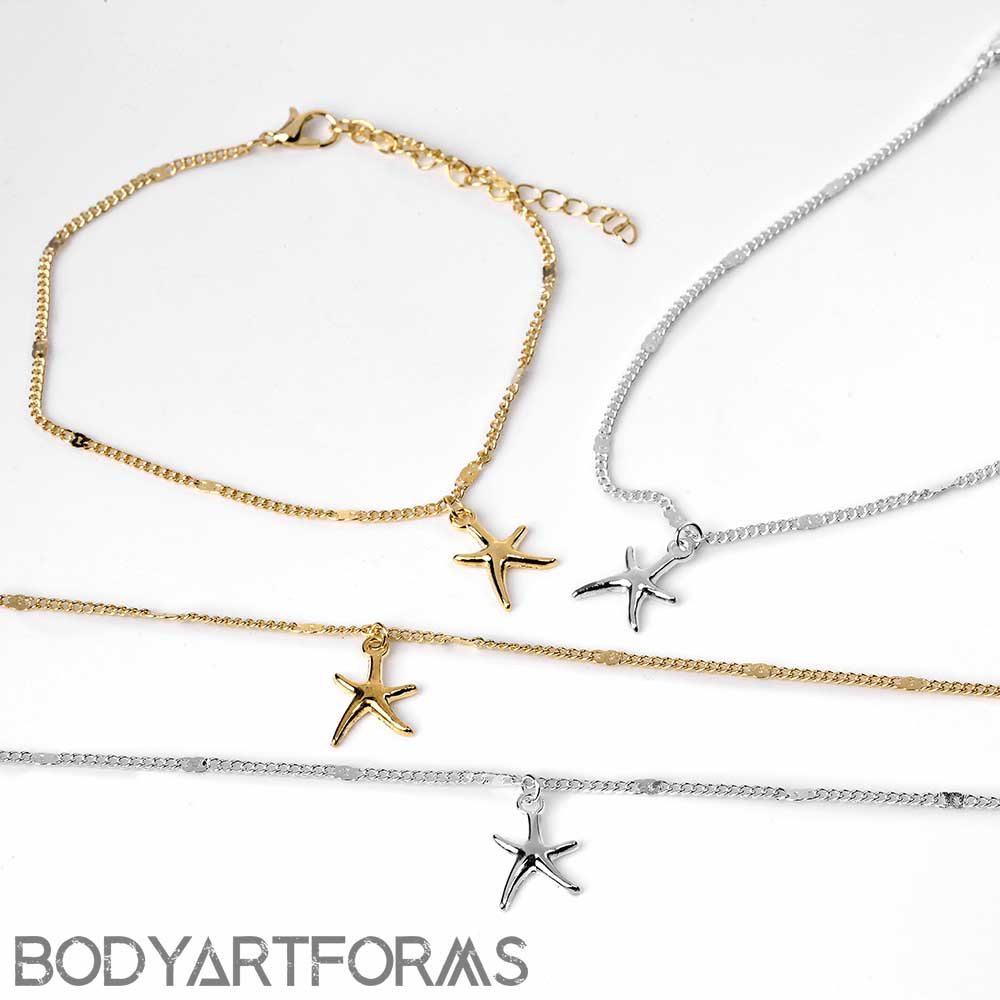Starfish Dangle Anklet